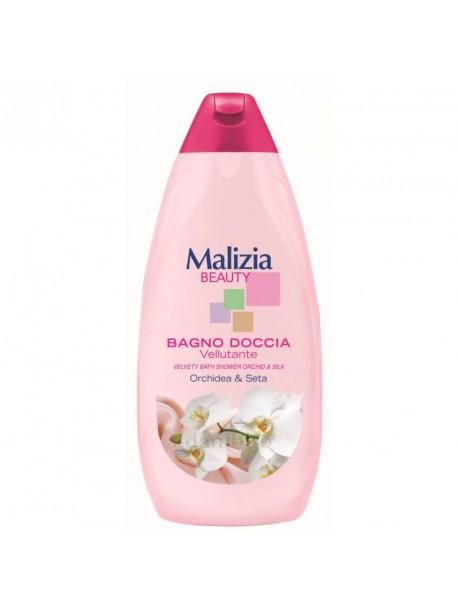 Malizia гель для душа бархатистая орхидея и шелк