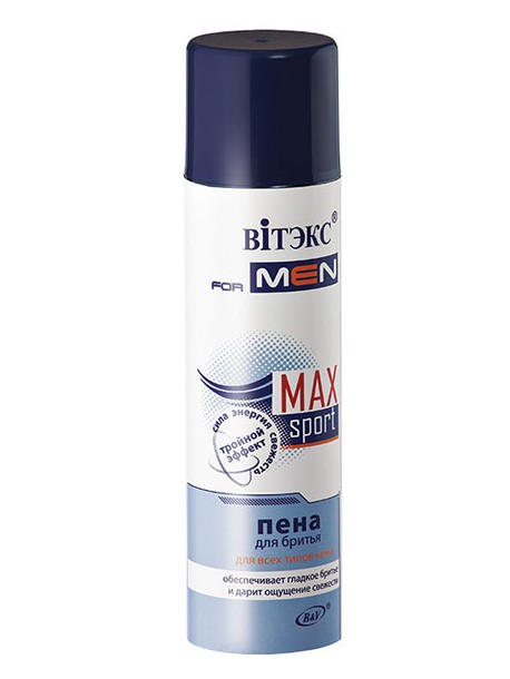 MAXsport Пена для бритья для всех типов кожи