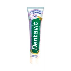 Зубная паста «Dentavit» антимикробная с серебром фторсодержащая