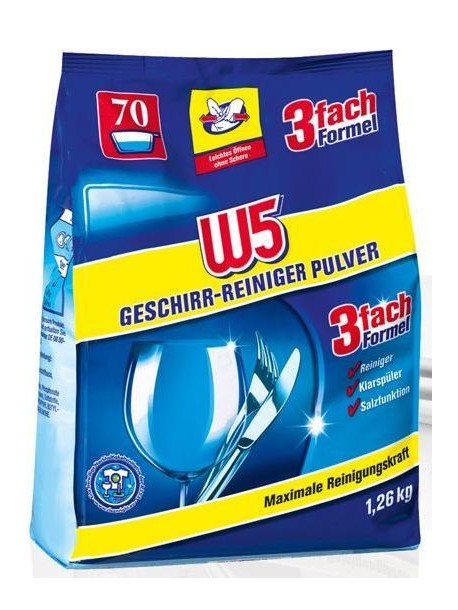 W5 порошок 3в1 для посудомоечных машин 1,26 кг ( 70 применений )