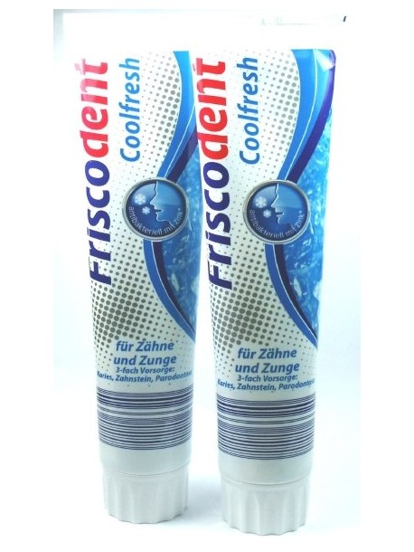 Зубная паста FRISCODENT Coolfresch - Свежее дыхание/(Германия) 125 мл.