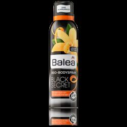 Balea Дезодорант аэрозольный Black Secret с освежающим аромат ванили и апельсина.