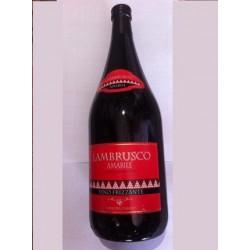 Вино красное полусладкое слабо-игристое Lambrusco Amabile (Ламбруско Амабиле) 1500 мл.
