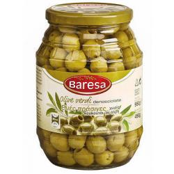 Оливки зеленые без косточки Baresa 950г. Италия.