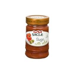 Saclo - томатный соус с зелеными оливками. Обьем 190 г.