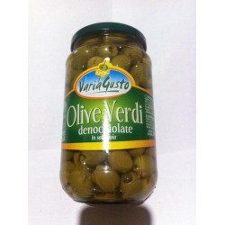 Varia Gusto зеленые оливки без косточек в рассоле. Вес 545 г.Производитель Италия.