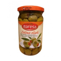 Baresa Zielone Oliwki оливки зеленые с паприкой 290г