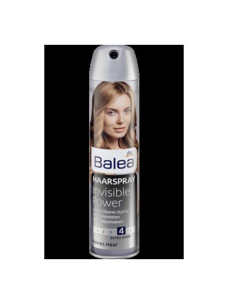 """Balea Invisible Power Haarspray - Лак для волос """"Невидимая сила"""", степень фиксации 4, 300 мл"""