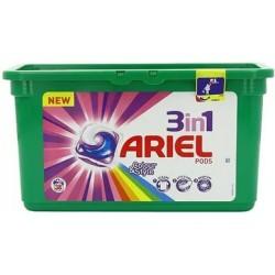 Универсальные гелевые капсулы для стирки Ariel 3 в 1 для цветного, 38шт.Германия