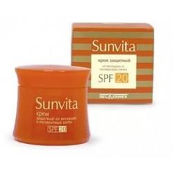 Крем Защитный от веснушек и пигментных пятен SPF20 Sunvita Belkosmex