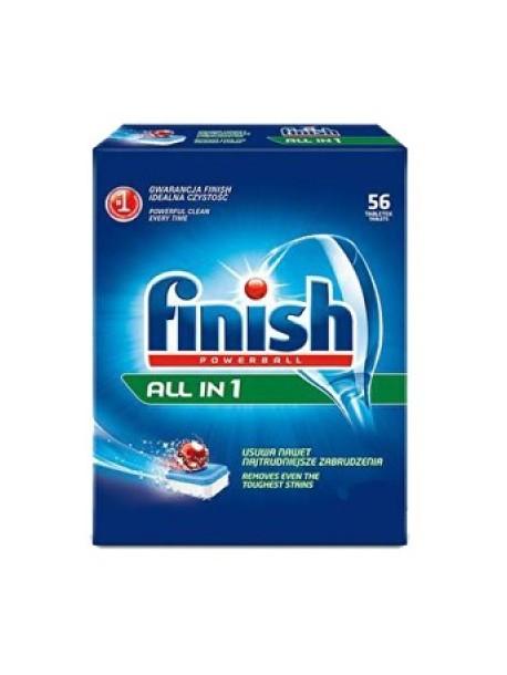 Таблетки Finish All In 1 для посудомоечной машины, 56 шт