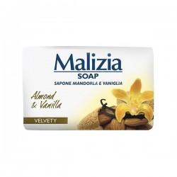 Malizia мыло туалетное твердое миндаль и ваниль 100гр Италия.