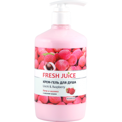 Крем гель для душа Litchi and Raspberry 750 мл Fresh Juice