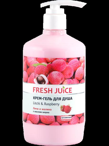 Крем гель для душа Litchi and Raspberry 750 мл Fresh Juice
