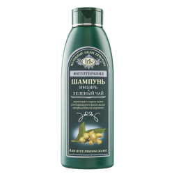 """Iris Cosmetic  Шампунь для всех типов волос """"Имбирь и зеленый чай"""""""
