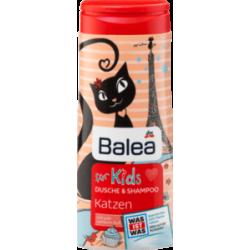 Balea dusche & shampoo for Kids Katzen - Кошки - Гель-душ + шампунь без слез (Германия) 300мл.