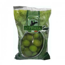 Оливки Vittoria Olive Nero Verdi Dolci Giganti, 500 мл