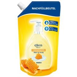 Жидкое крем-мыло молоко и мед запаска elkos Cremeseife Milch & Honig 750мл Германия.
