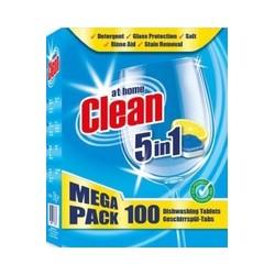 """Таблетки для п/машины """"At home Clean"""" 100 шт"""