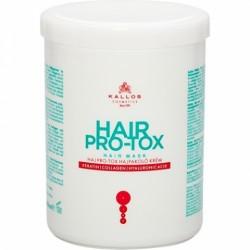 Маска для волос с кератином, коллагеном и гиалуроновой кислотой Kallos Cosmetics Pro-Tox Hair Mask 1л