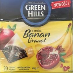 GREEN HILLS Banan Granat фруктовый чай с бананом и соком граната,40гр.(20 пакетов).