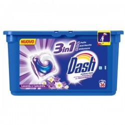 Капсулы для стирки 3 в 1 Dash Ecodosi pods Lavanda e camomilla, 36 шт.