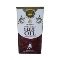 Масло оливковое Latrovalis Extra Virgin Olive Oil Cold Extraсtion, 5л