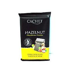 Cachet Hazelnut - Темный шоколад с фундуком 300г Бельгия.