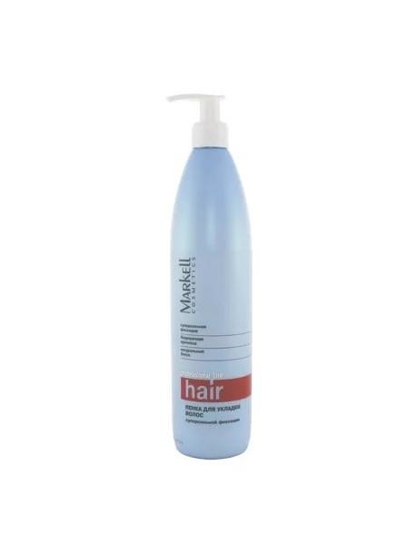 Пенка для укладки волос суперсильной фиксации 500 мл. Professional hair line Markell