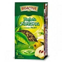 Чай зеленый Big Active Herbata zielona z owocem Pigwy 100г.