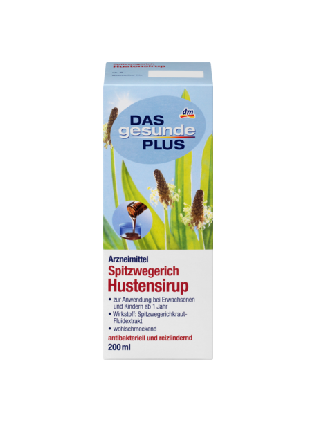 Das gesunde Plus Spitzwegerich Hustensirup - сироп подорожника от кашля 200мил (Германия)