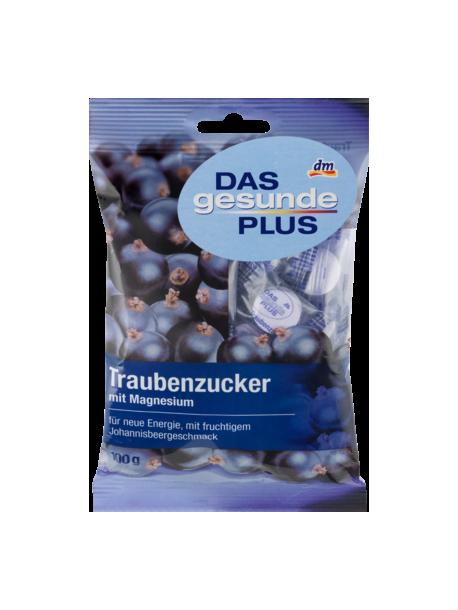 Витаминные таблетки DAS gesunde PLUS Traubenzucker mit Magnesium-с фруктовым вкусом черной смородины,магнием и декстразой.