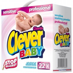 Детский стиральный порошок Clever Baby Sensitive 2200 г