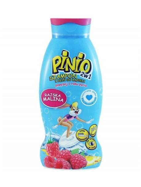 Pinio 2w1 Szampon i Plyn do Kapieli Rajska Malina.Детский шампунь- пена для ванны Pinio « Малина »500 мл.