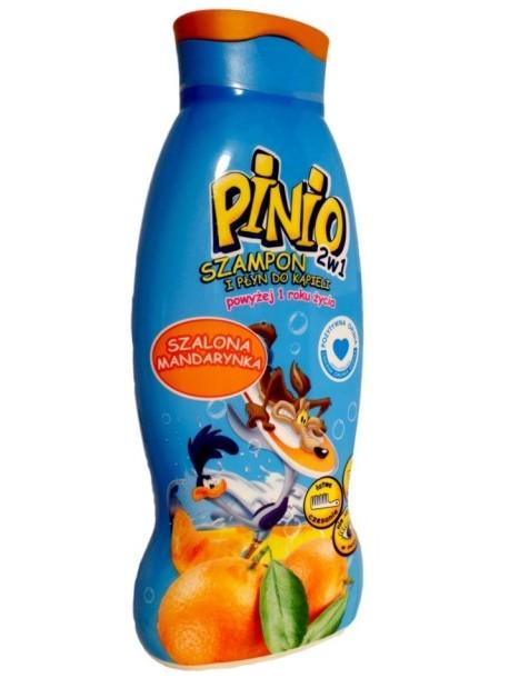Pinio 2w1 Szampon i Plyn do Kapieli Szalona Mandarynka.Детский шампунь- пена для ванны Pinio « Мандарин »500 мл.