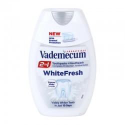 Зубная паста+ополаскиватель Vademecum White fresh с отбеливающим эффектом.