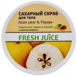"Сахарный скраб для тела ""Азиатская груша и папайя"" Fresh Juice Asian Pear & Papaya 225мл"