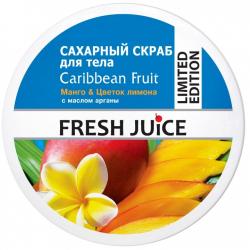 "Fresh Juice Caribbean Fruit Сахарный скраб для тела ""Манго и цветок лимона"" 225мл"
