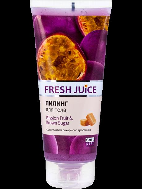 "Пилинг для тела ""Маракуйя и Коричневый сахар"" Fresh Juice Passion Fruit & Brown Sugar 200мл"