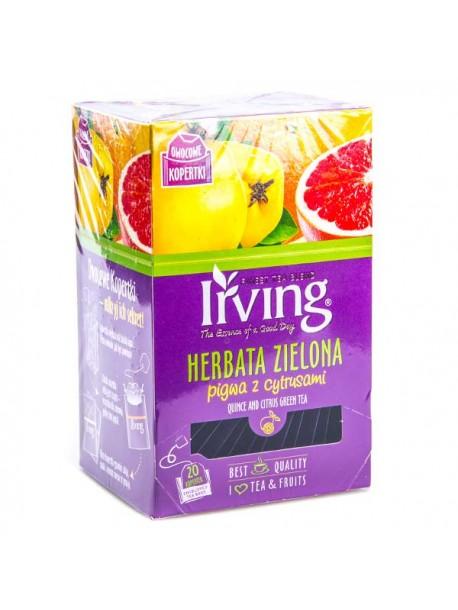 Чай зеленый – айва с цитрусами Irving 20пак.