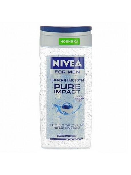"""Гель для душа """"Энергия чистоты"""" Nivea For Men Pure Impact Shower Gel"""