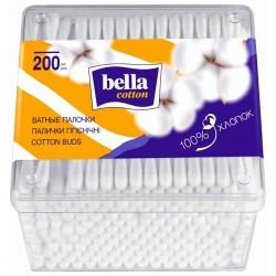 Ватные палочки прямоугольные, 200шт Bella