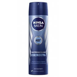 """Дезодорант спрей антиперспирант """"Экстремальная свежесть"""" для мужчин Nivea For Men Deodorant"""