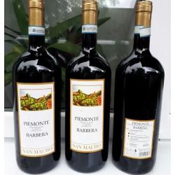 Вино красное Piemonte Barbera San Mauro 12% 1,5 л