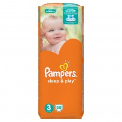 Подгузники PAMPERS Sleep & Play Midi 3 (5-9 кг) 58 шт