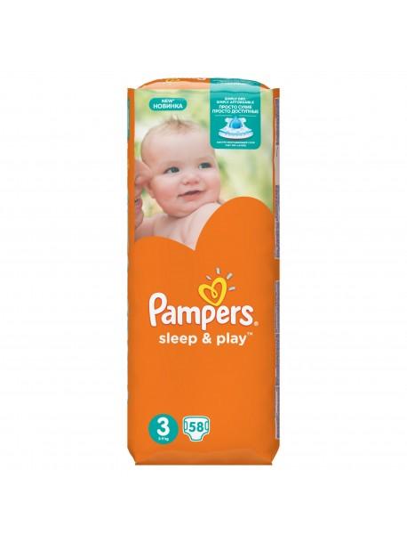 Подгузники PAMPERS Sleep & Play Midi 3 (5-9 кг) 58 шт