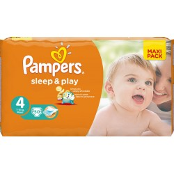 Подгузники PAMPERS Sleep & Play Maxi 4 (8-14 кг) Макси Пак 50 шт