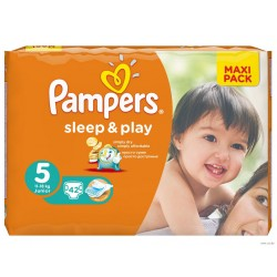 Подгузники PAMPERS Sleep & Play Junior 5 (11-18 кг) Макси Пак 42 шт