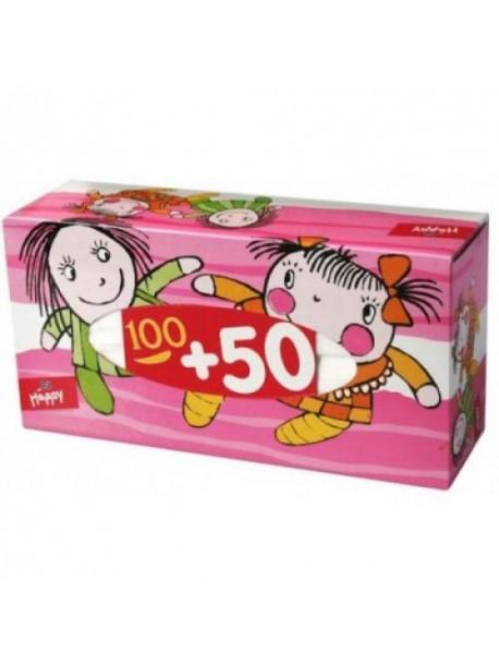 Салфетки сухие отрывные Bella Happy, 100 + 50 шт.