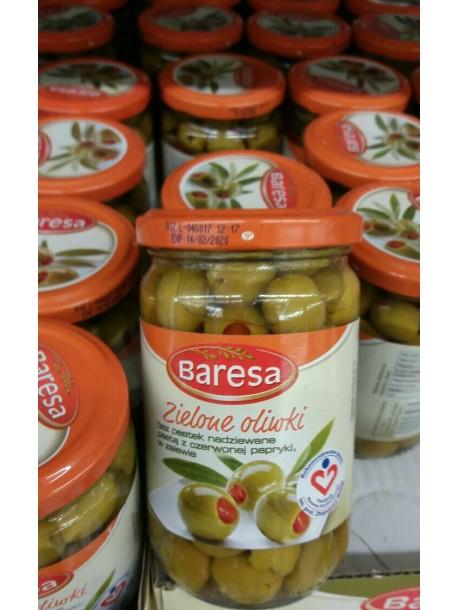 Оливки зеленые без косточки Baresa 160гр